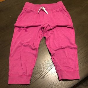 Under Armour Pink Crop Joggers.